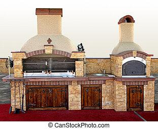 Stone barbecue