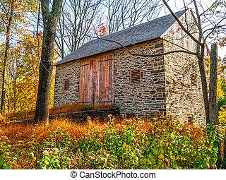 Stone Barn in Meadow