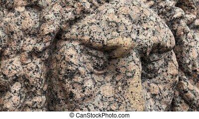 stone bas-relief lion head - stone lion head bas-relief...