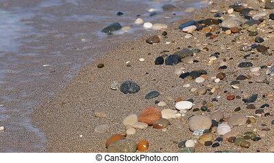 Stone beach wave