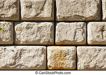 Stone Block Retaining Wall