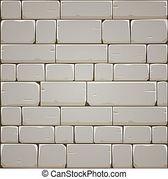 Stone Block Wall - Closeup of stone block wall. Vector...