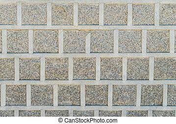 Stone block wall pattern