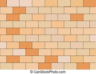 Stone Block Wall - Vector Illustration
