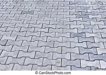 Background of blue-grey stone (concrete) blocks