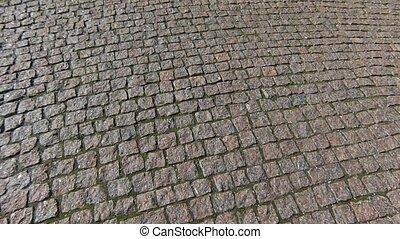 Stone brick pavement street, Marble pavement blocks texture