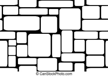 Stone bricks. Seamless vector illustration