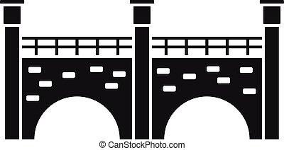 Stone bridge icon, simple style