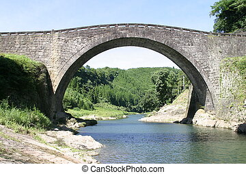 Stone bridge - Old stone bridge in Japan