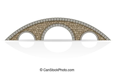 stone bridge stock vector illustration