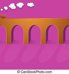 Stone bridge viaduct