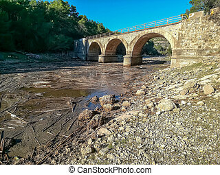 Stone bridge with three arches