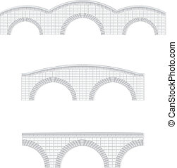 stone bridges vector illustration