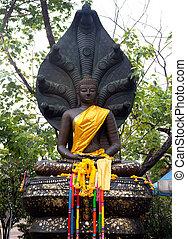 stone buddha in thailand