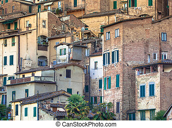 Stone Buildings in the City of Sienna