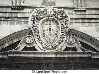 Stone Carved Architecture Details. Maltese Sacred Architecture