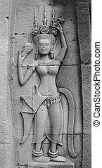 Stone carvings - angkor wat, cambodia