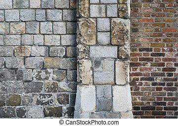 Stone castle wall