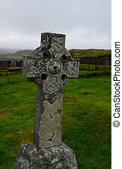 Stone Celtic Cross At Dunvegan Cemetery