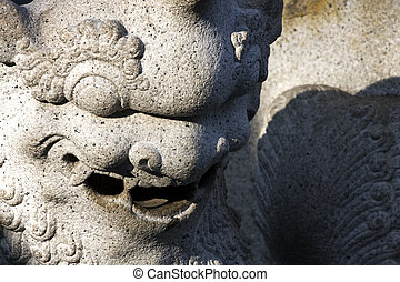 Stone Chinese Dragon Statue