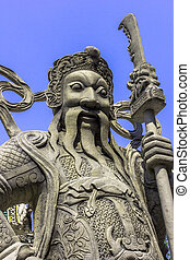 stone Chinese soldier statue