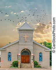 Stone Church at Dawn