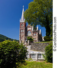 Stone church of Harpers Ferry a national park