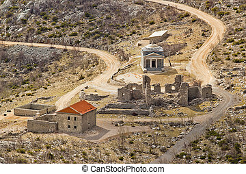 Stone church of st. Franjo on Velebit mountain