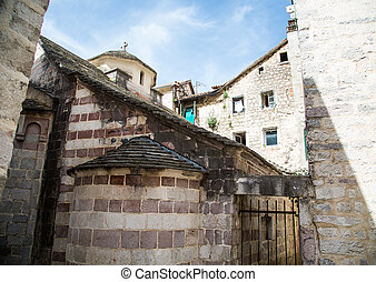 Stone Cistern in Kotor - An ancient church in the walled...