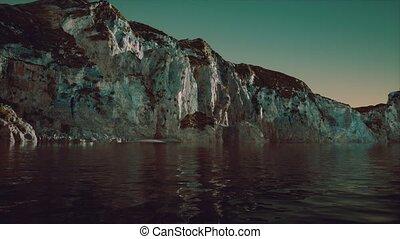stone cliff at coastline in Portugal