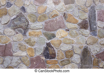 Stone coating of a wall