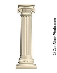 Stone column - isolated on white background, 3d render