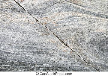 Stone cracked