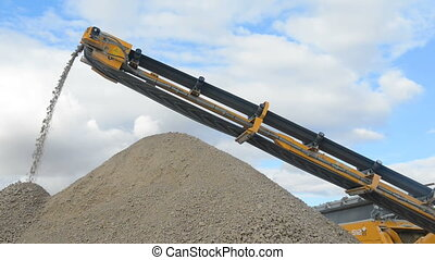 Stone crusher at the quarry