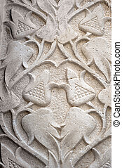 Stone decoration on the wall