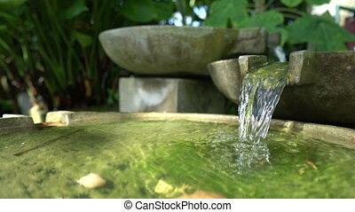 Stone decorative outdoor fountain.