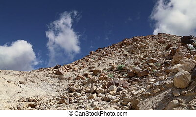 Stone desert,Jordan, Middle East - Stone desert (typical...