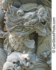 Stone dragon decoration