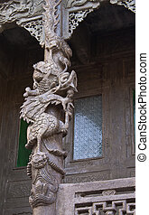 stone dragon in temple
