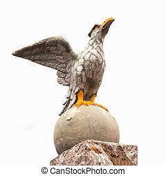 Stone Eagle Statue Symbol of Power