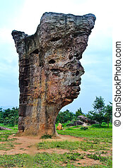 Stone face, The Amazing of Rock in National Park, Chaiyaphum-Thailand