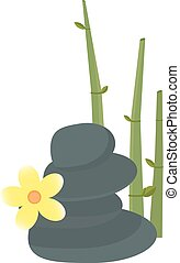 Stone, flower and bamboo hygiene items