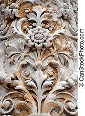 Stone flower detail