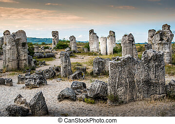 Stone Forest, Pobiti Kamani, next to Varna, Bulgaria