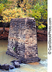 Stone Foundation for Old Bridge - Solid, stone support ...
