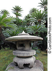 Stone garden lantern - stone garden lantern in a japanese...