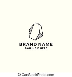 stone gems logo template vector illustration