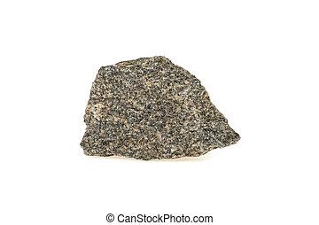 stone, granite isolated on white background