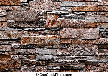 Stone grey brown orange wall texture background natural color