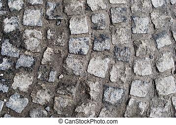 stone ground - background of old stones